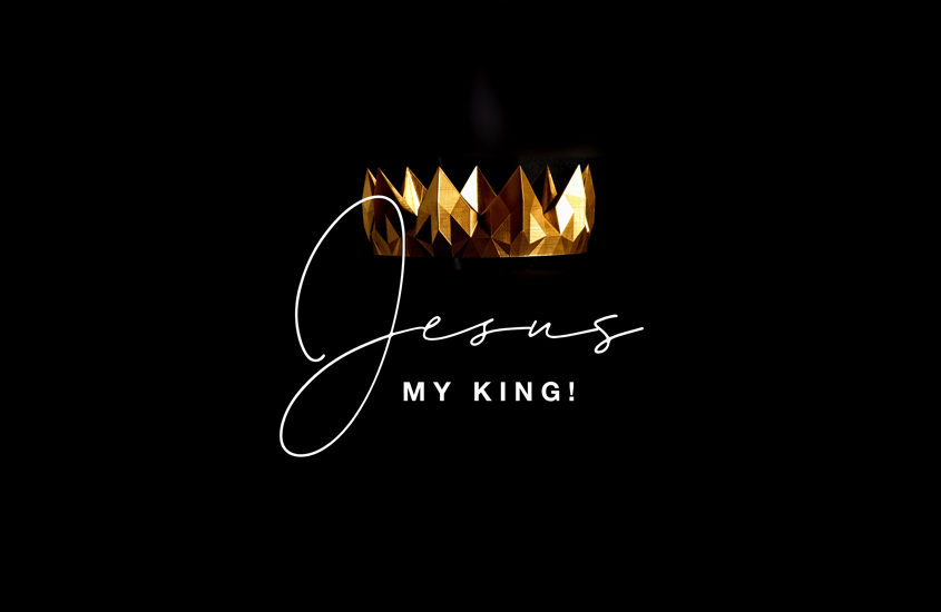 golden crown with the words Jesus, my king