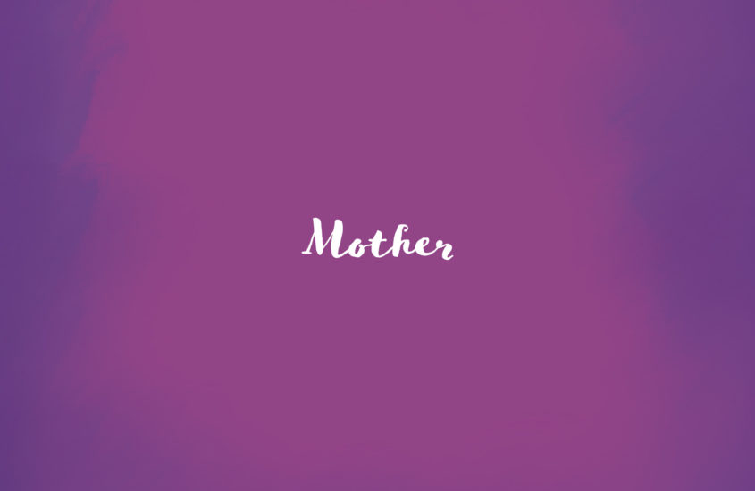 mothers day thoughts on a purple background