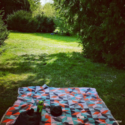 cloth on the grass in the park